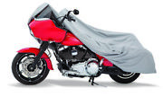 Harley Davidson Dyna Wide Glide And Softail Grey Superweave Motorcycle Cover