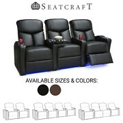 Seatcraft Raleigh Home Theater Seating Recliners Seat Chair Couch Living Room