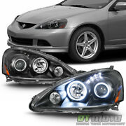 2005 -2006 Acura Rsx Dc5 Led Dual Halo Projector Headlights Headlamps Left+right
