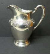 Vintage Wallace Normandie Sterling Silver Water Pitcher, 730 Grams