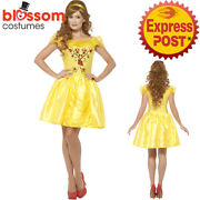 Ca358 Enchanting Princess Belle Dress Costume Fairytale Beauty And The Beast