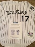 Colorado Rockies Todd Helton Game Worn/used Jersey Mears Loa