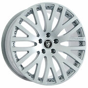 Set Of 20 Staggered Bmw Hyper Silver Wheels And Tires Rims For 7 6 5 Series