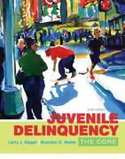 Juvenile Delinquency The Core By Larry J. Siegel English Paperback Book Free