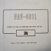 Factory Issued Nav-401l Ramp Test Set Operation Maintenance And Parts Manual