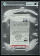 Bill Clinton Signed Autograph 4.5x8 Invitation For 1986 Stamp Ceremony Bas Slab