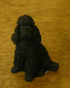 Castagna Mini Dog Figurines 369n Black Poodle, Made In Italy, New/box