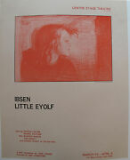 1978 Little Eyolf Centre Stage Theatre Poster Henrik Ibsen Norwegian Play