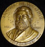 Simon Newcomb 1909 Astronomer Hall Of Fame Great Americans 1970 Nyu Bronze Medal