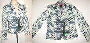 Custo Line Barcelona Sz 36 Xs S Blue Zip Jacket Bust 32