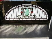 Antique Stained Glass Transom Window 62 X 28 Architectural Salvage