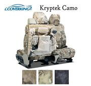 Coverking Custom Tactical Seat Covers Ballistic Kryptek Camo - Pick Color And Rows