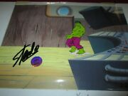 Stan Lee Marvel Signed Incredible Hulk Production Cel 1970's Rare