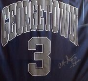 Ai Allen Iverson Vintage Framed And Autographed Georgetown Jersey Authentic And Rare