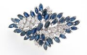 .a 14k White Gold 1.20ct Diamond And Aust Sapphire Ladies Cluster Ring Val 9345