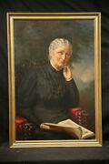 Fantastick 19thc Oil Painting Of Victorian Woman Best Iand039ve Seen