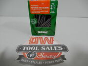 Spax Screws Made In Usa 3 1/4 Hcr-x Exterior 9, 5lbs