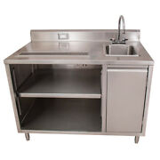 Bk Resources Bevt-3060r 60x30 Stainless Steel Beverage Table W/ Sink On Right