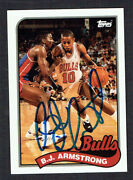 B.j. Armstrong 116 Signed Autograph 1993 Topps Basketball Archives The Rookies