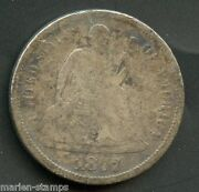 United States 1877 Seated Liberty Dime You Do The Grading Have Fun Bidding