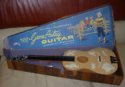 Emenee Gene Autry Guitar Boxed C. 1960and039s No 601 Plastic Toy Guitar Western