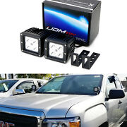 Cree Led Pod Lights W/ A-pillar Mounting Brackets Wiring For 15+ Chevy Gmc Truck