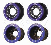 Hiper Cf1 Beadlock Rims Wheels 10 Front 10 Rear Black Blue Raptor 700 660 250