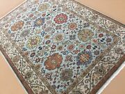 5and039 X 7and039 Light Blue Very Fine Geometric Oriental Area Rug Hand Knotted Wool