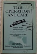 1917 National Motor Cars Sixes And Twelves 6 12 Cylinder Owners Manual