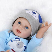 Reborn Baby Doll Full Body Silicone Vinyl Sleeping Boy Soft Lifelike New 22-inch