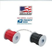 12 Gauge 100and039 X 2 Rolls Primary Wire Red And Black Insulated Copper Stranded Usa
