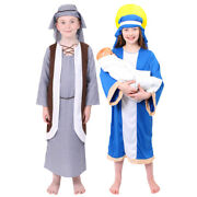 Childs Mary And Joseph Nativity Costume Kids Fancy Dress School Play Outfit