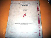 Original Erco Engineering And Research Corp Ercoupe 415-c Parts Manual
