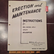 1953 Bell Helicopter 47d-1 Erection And Maintenance Manual