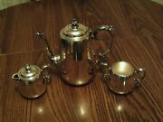 Vintage Four Piece Wm Rogers Silverplate Silver Plated Tea Set