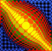 Enigmas Rare Framed Serigraph S/n By Victor Vasarely Pub. By Denise Renandeacute