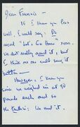 Alan Jay Lerner Two Autograph Letters About Coco Possibly To Frank Sinatra