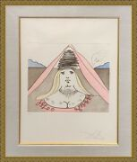 Salvador Dali The Lady Dulcinea | Signed Etching | Frank Hunter Authenticated