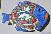 Fish Tureen, Covered Bowl Art Ceramic Decorative Hand Painted made in Greece