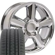 Oew Fits 20x8.5 Wheel Tire Chevy Tahoe Chrome Rims W/tires 5308