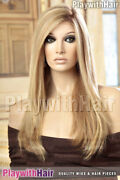 Luxury Designer Lace Front Wig Mono Top Wow Human Hair Soft Blonde Regrowth Sta