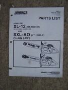 Homelite Xl-12 Pyramid Reed System Sxl-ao Chain Saw Parts List More In Store U