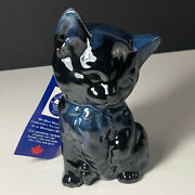 BLUE MOUNTAIN POTTERY CAT FIGURINE black kitten Canada tag clay sculpture statue