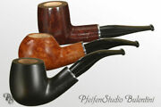 Whistles Bruyere 9mm Filter Savinelli Ermes - 3 Short Army Models - Briar Pipes