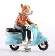A Dog On A Scooter Trinket Box Limited Edition - Keren Kopal And Austrian Crystals