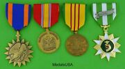 Air Medal And Vietnam War Service Medals - Us Army Navy Air Force Marines
