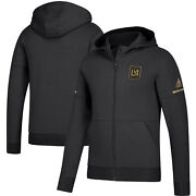 Adidas Los Angeles Lafc Mls 2018 Limited Edition Zone Zne Hooded Soccer Jacket