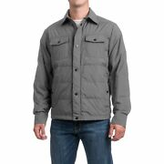 32 Degrees Menand039s Down Shirt Cloud Cover Melange Gray