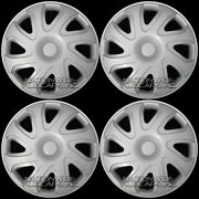 14 Set Of 4 Hubcaps Wheel Covers Snap On Full Hub Caps Fit R14 Tire And Steel Rim