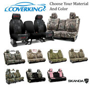 Coverking Custom Front And Rear Row Skanda Camo Seat Covers For Chevrolet Trucks